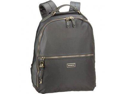 "Samsonite Karissa Biz Backpack 14,1"" Gunmet. Green  + LED svítilna"