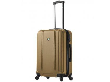 Cestovní kufr MIA TORO M1210/3-M - zlatá  + LED svítilna