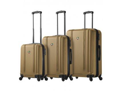 Sada cestovních kufrů MIA TORO M1210/3 - zlatá  + LED svítilna
