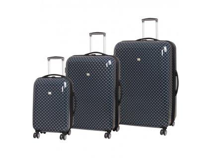 Sada cestovních kufrů MEMBER'S TR-0184/3 ABS - charcoal  + Sluchátka, myš nebo pouzdro