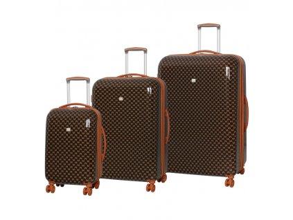 Sada cestovních kufrů MEMBER'S TR-0184/3 ABS - hnědá  + Sluchátka, myš nebo pouzdro