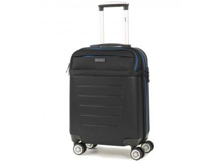 Kabinové zavazadlo ROCK TR-0166/3-S ABS/PES - černá  + LED svítilna