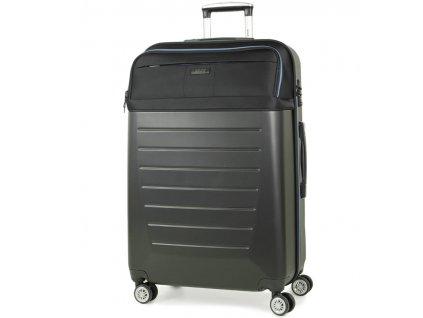 Cestovní kufr ROCK TR-0166/3-L ABS/PES - černá  + LED svítilna