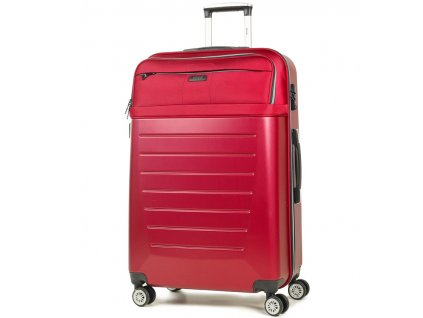 Cestovní kufr ROCK TR-0166/3-L ABS/PES - červená  + LED svítilna