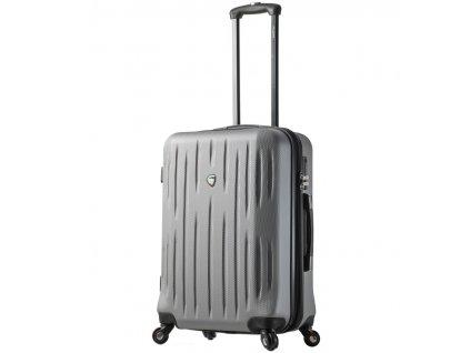 Cestovní kufr MIA TORO M1212/3-L - stříbrná  + LED svítilna