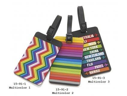 Travelite jmenovka na kufr Multicolor 3