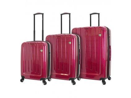 Sada cestovních kufrů MIA TORO M1321/3 - vínová  + LED svítilna