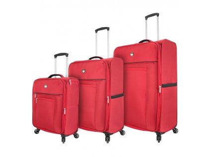 Sada cestovních kufrů MIA TORO M1131/3 - oranžová  + Sluchátka, myš nebo pouzdro