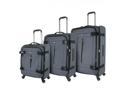 Sada cestovních kufrů MIA TORO M1135/3 - šedá  + Sluchátka, myš nebo pouzdro