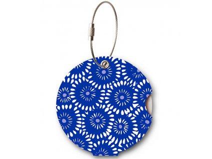 Jmenovka na kufr Addatag - Batik Blue