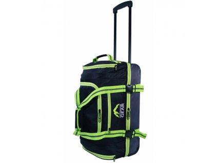 """Cestovní taška na kolečkách GEAR T-805/22"""" - černá/zelená  + LED svítilna"""
