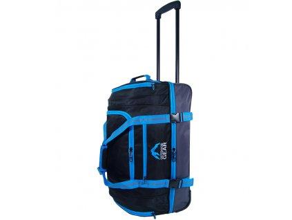 """Cestovní taška na kolečkách GEAR T-805/22"""" - černá/modrá  + LED svítilna"""