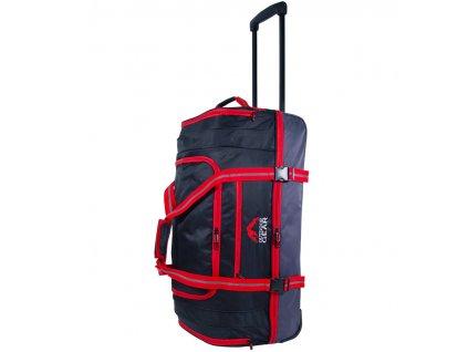 """Cestovní taška na kolečkách GEAR T-805/26"""" - černá/červená  + LED svítilna"""