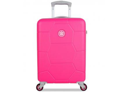 Kabinové zavazadlo SUITSUIT® TR-1248/3-S ABS Caretta Hot Pink  + LED svítilna