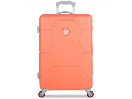 Cestovní kufr SUITSUIT® TR-1246/3-M ABS Caretta Melon  + LED svítilna