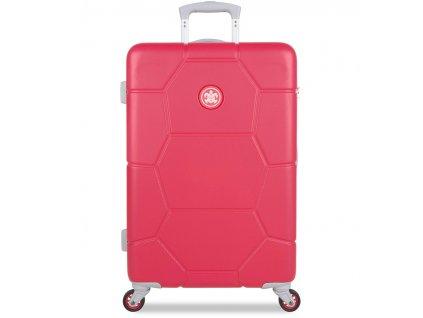 Cestovní kufr SUITSUIT® TR-1247/3-M ABS Caretta Teaberry  + LED svítilna