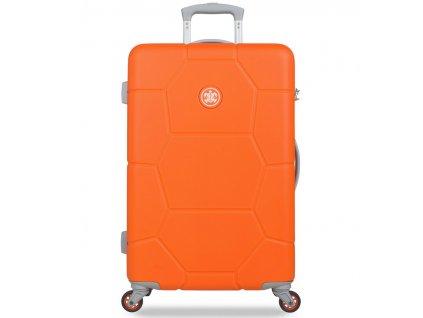 Cestovní kufr SUITSUIT® TR-1249/3-M ABS Caretta Vibrant Orange  + LED svítilna