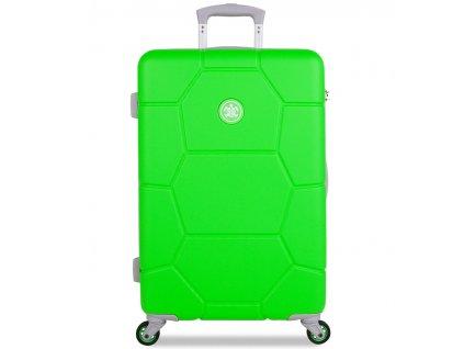 Cestovní kufr SUITSUIT® TR-1251/3-M ABS Caretta Active Green  + LED svítilna