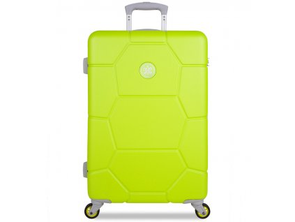 Cestovní kufr SUITSUIT® TR-1252/3-M ABS Caretta Sparkling Yellow  + LED svítilna
