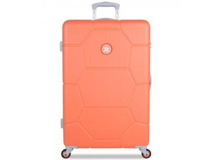 Cestovní kufr SUITSUIT® TR-1246/3-L ABS Caretta Melon  + LED svítilna