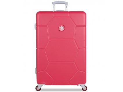 Cestovní kufr SUITSUIT® TR-1247/3-L ABS Caretta Teaberry  + LED svítilna