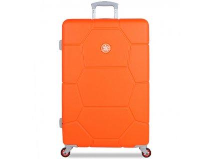 Cestovní kufr SUITSUIT® TR-1249/3-L ABS Caretta Vibrant Orange  + LED svítilna