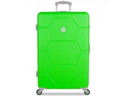 Cestovní kufr SUITSUIT® TR-1251/3-L ABS Caretta Active Green  + LED svítilna