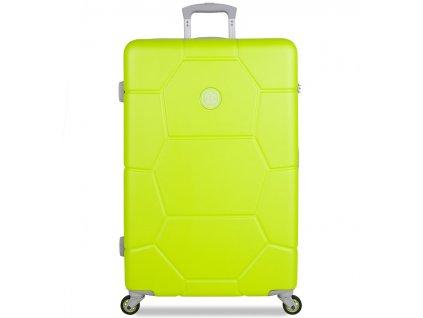 Cestovní kufr SUITSUIT® TR-1252/3-L ABS Caretta Sparkling Yellow  + LED svítilna