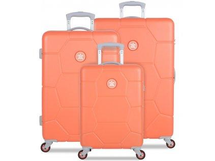 Sada cestovních kufrů SUITSUIT® TR-1246/3 ABS Caretta Melon  + Sluchátka, myš nebo pouzdro