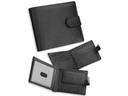 Pánská kožená peněženka METRO MTB06 - černá
