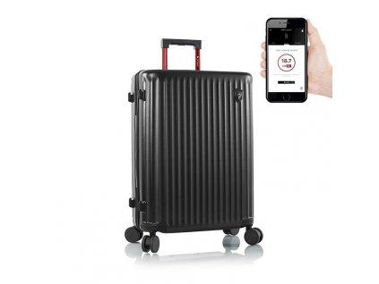 Heys Smart Luggage Airline Aproved M Black  + Sluchátka, myš nebo pouzdro