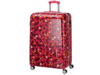 Travelite Campus Hardshell L Quadro pink  + LED svítilna