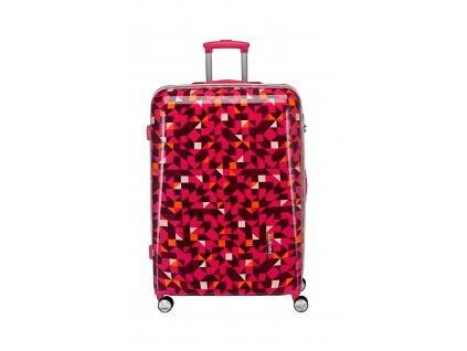 Travelite Campus Hardshell M Quadro pink  + Sluchátka, myš nebo pouzdro