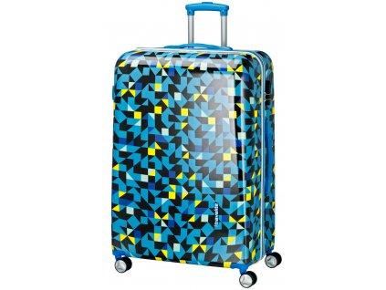 Travelite Campus Hardshell L Quadro blue  + Sluchátka, myš nebo pouzdro