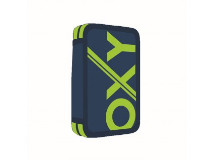 Penál 2 p. prázdný OXY BLUE LINE Green 7-91518