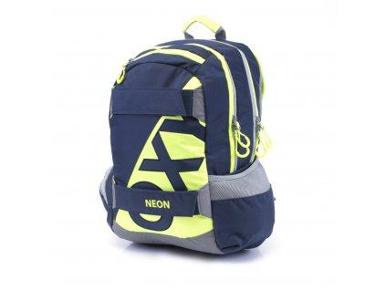 Studentský batoh OXY Sport NEON LINE Dark Blue 7-71517