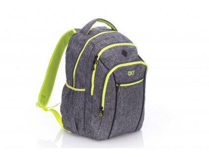 Studentský batoh OXY TWO Grey 3-17717