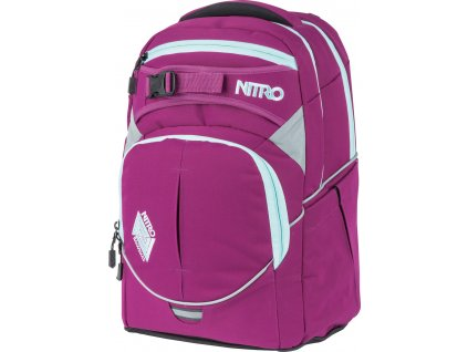 NITRO batoh SUPERHERO grateful pink  + LED svítilna