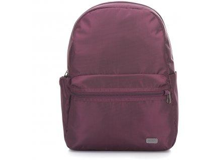 PACSAFE batoh DAYSAFE BACKPACK blackberry  + Sluchátka, myš nebo pouzdro
