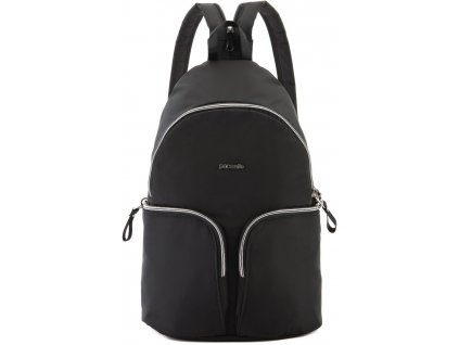 PACSAFE batoh STYLESAFE SLING BACKPACK black  + Sluchátka, myš nebo pouzdro