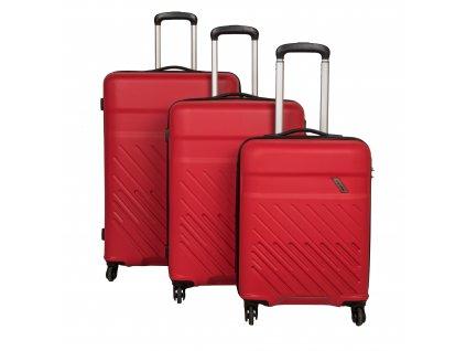 Travelite Vinda 4w S,M,L Red – sada 3 kufrů  + Sluchátka, myš nebo pouzdro