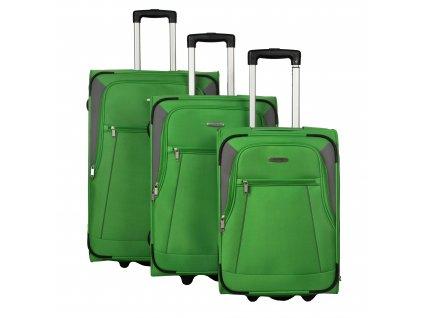 Travelite Portofino 2w S,M,L Green – sada 3 kufrů  + Sluchátka, myš nebo pouzdro