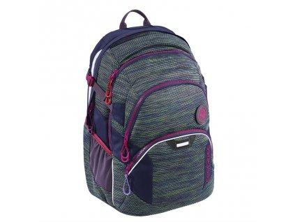 Školní batoh Coocazoo JobJobber2, Wildberry Knit  + 5 % sleva po registraci + LED svítilna