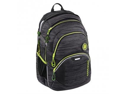Školní batoh Coocazoo JobJobber2, Black Knit  + LED svítilna