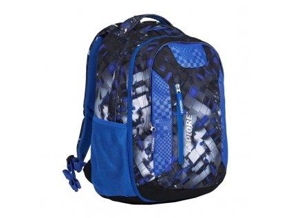 Studentský batoh 2v1 LIAN Mix blue + LED svítilna 88bac453ba