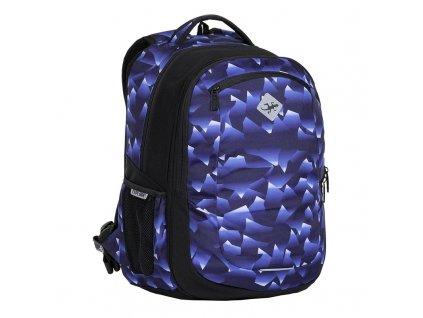 Studentský batoh 2v1 VIKI Crystal blue  + LED svítilna