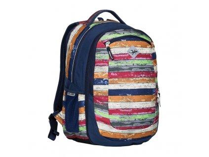 Studentský batoh 2v1 VIKI Melange  + LED svítilna