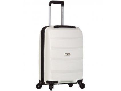 Kabinové zavazadlo SIROCCO T-1208/3-S PP - bílá  + Sluchátka, myš nebo pouzdro