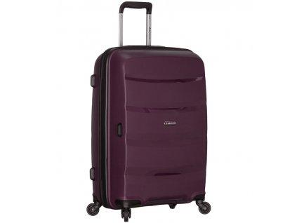 Cestovní kufr SIROCCO T-1208/3-L PP - fialová  + LED svítilna