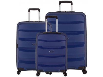 Sada cestovních kufrů SIROCCO T-1208/3 PP - modrá  + LED svítilna